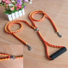 Two Dog Leash 4.6ft 2 Way No Tangle Coupler Double Pet Dog Lead Leash - Orange + Red