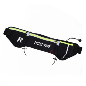 ROMIX RH42 Zippered Waist Belt Bag for Traveling Running Jogging - Black