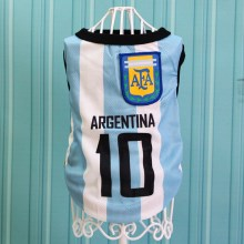 Size: 5XL / White and Blue Number 10 Argentina
