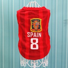 Size: 6XL / Red Number 8 Spain