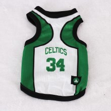 Size: 6XL / White and Green Number 34 Celtics