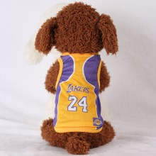 Size: 4XL / Yellow and Purple Number 24 Lakers