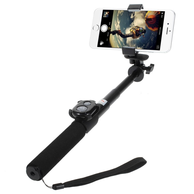 black ashutb kit s3 bluetooth selfie stick with remote shutter for iphone samsung sony etc. Black Bedroom Furniture Sets. Home Design Ideas