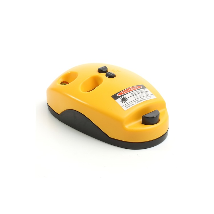 Mini Laser Level Measuring Ruler Mouse 2 Laser Lines 2 Bubbles Vials