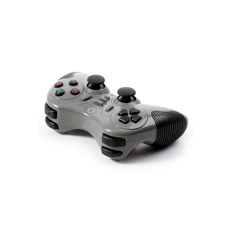 JITE CX-506 2.4G Wireless Dual Shock USB PC Controller Game Pad Joystick for Sony PS2 PS3 - Grey