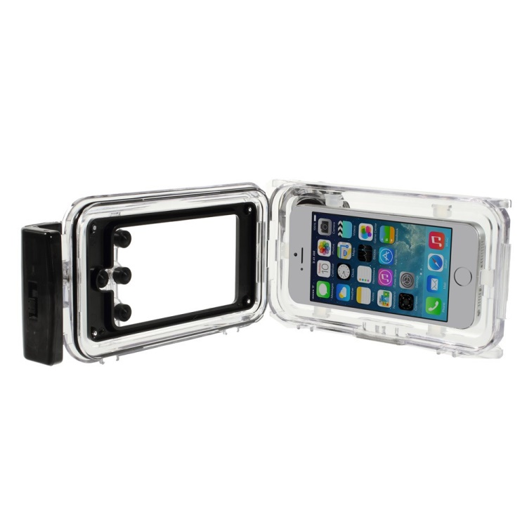 IPX8 Waterproof Photo Housing 40m/130ft Rated Underwater Case for iPhone 5s 5 5c - Black