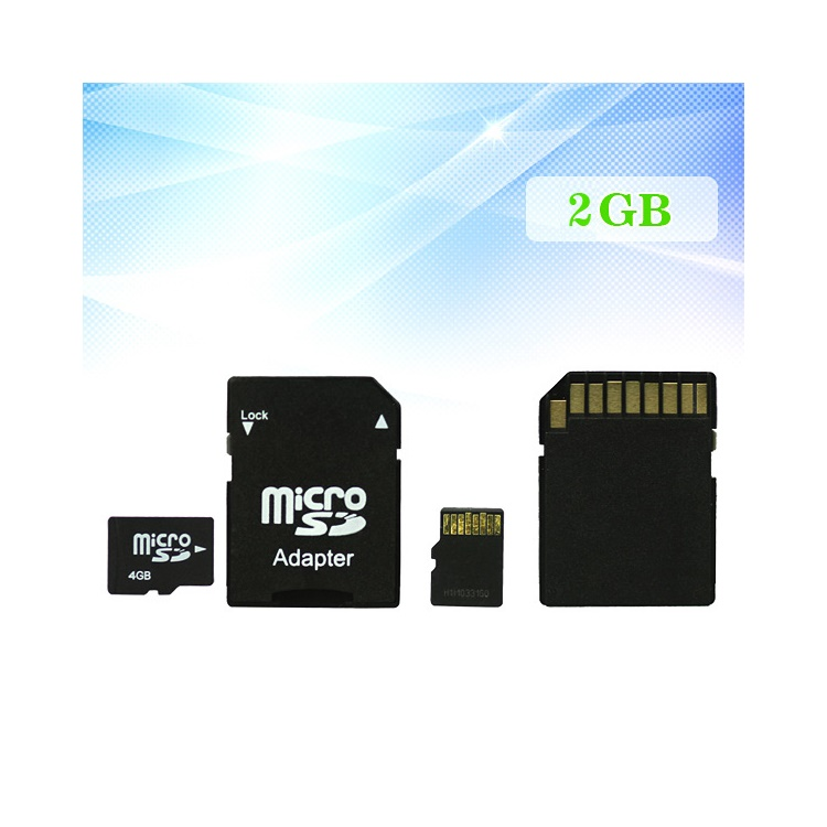 2GB MicroSD TF Flash Memory Card with SD Adapter